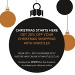 Christmas starts here at Whistles: 20% off your shopping this weekend!