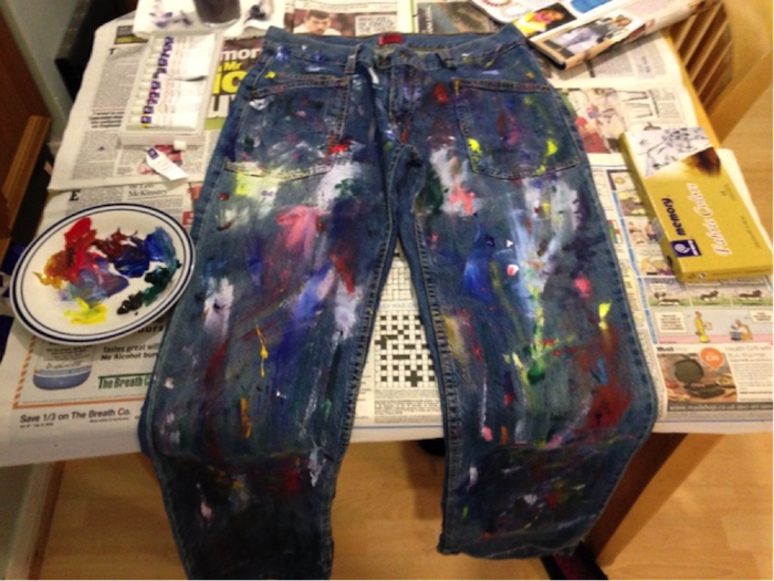 DIY designer denim painting instructions