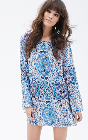 Bell-sleeve dress £15 at Forever21
