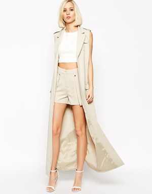 Lavish Alice Sleeveless maxi trench coat £80 at Asos.com