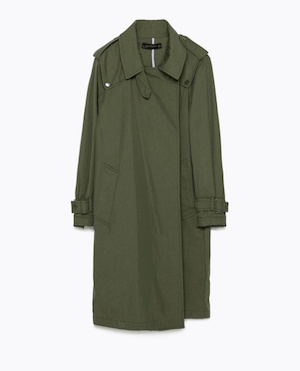 Oversized cotton trench coat £99.99 at Zara