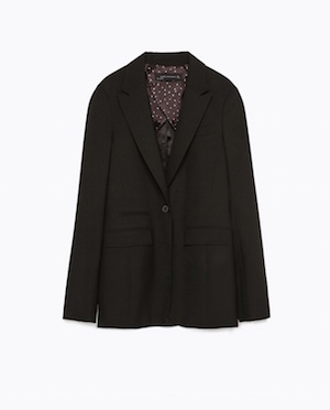 Straight cut Blazer £69.99 at Zara