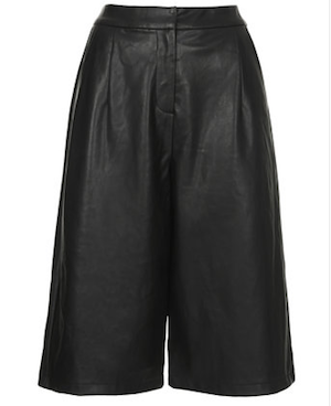 Leather-look Culottes £35 at Topshop